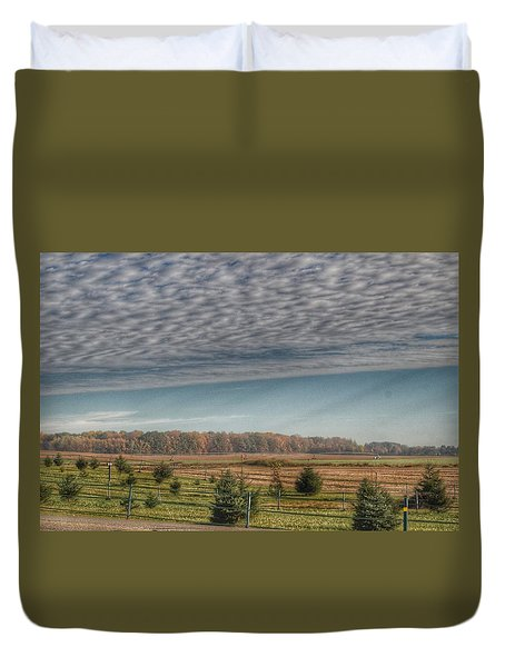 9017 - Fences, Firs And Fall Duvet Cover