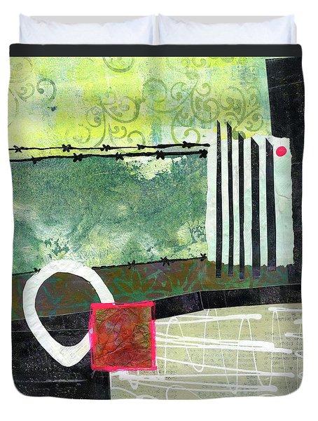 Fences Duvet Cover by Sue Furrow
