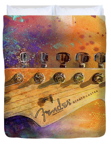 Fender Head Duvet Cover