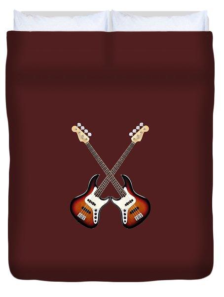 Fender Jazz Bass Lefty Duvet Cover by Doron Mafdoos