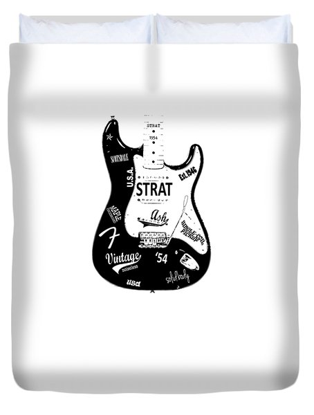 Fender Stratocaster 54 Duvet Cover by Mark Rogan