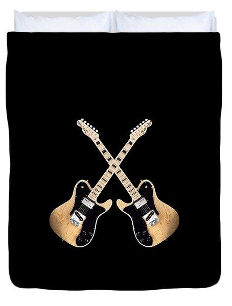 Fender Telecaster Custom Duvet Cover by Doron Mafdoos