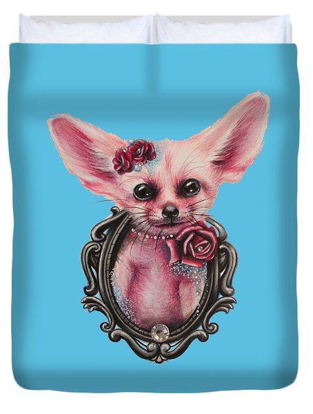 Fennec Fox Duvet Cover by Sheena Pike