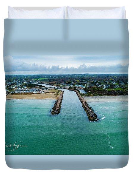 Fenway Beach Breakwater Duvet Cover