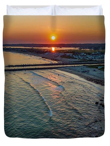 Fenway Beach Sunset Duvet Cover