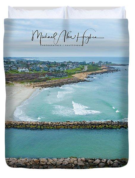 Fenway Beach, Weekapaug Duvet Cover
