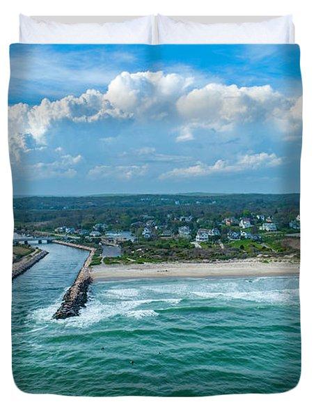 Fenway Beach, Weekapaug,ri Duvet Cover