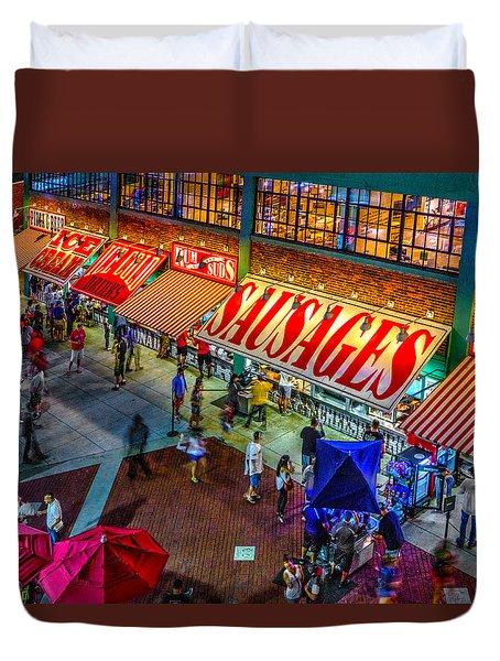 Fenway Food Court 3845 Duvet Cover