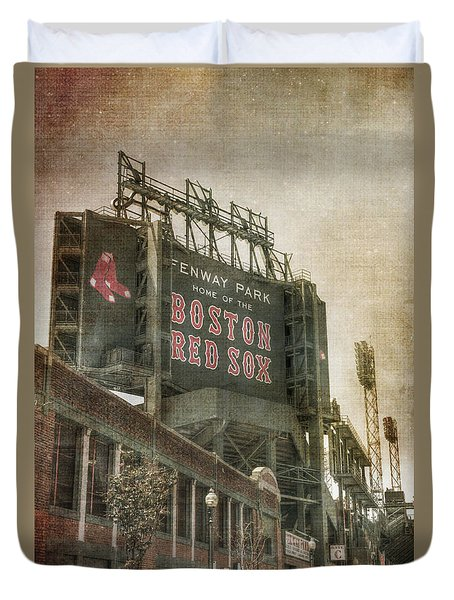 Fenway Park Billboard - Boston Red Sox Duvet Cover