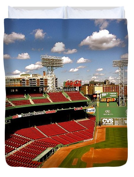 Duvet Cover featuring the photograph Fenway Park Iv  Fenway Park  by Iconic Images Art Gallery David Pucciarelli