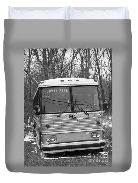 Duvet Cover featuring the photograph Fenway Park by Michael Krek