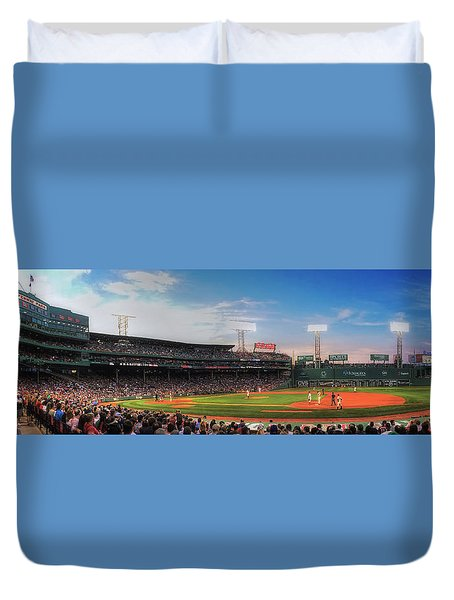 Fenway Park Panoramic - Boston Duvet Cover