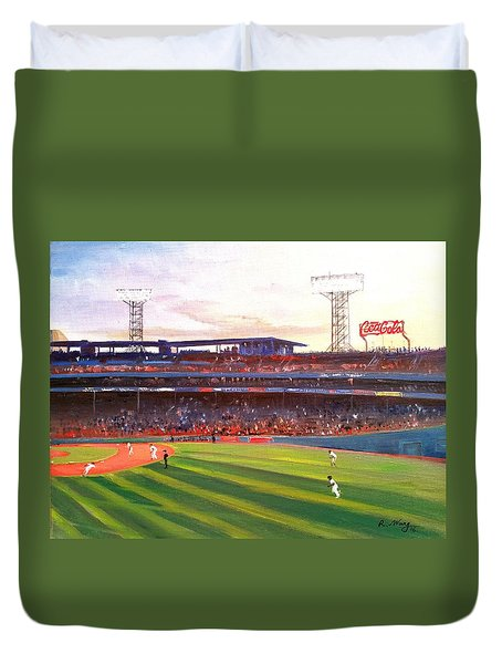 Fenway Park Duvet Cover by Rose Wang