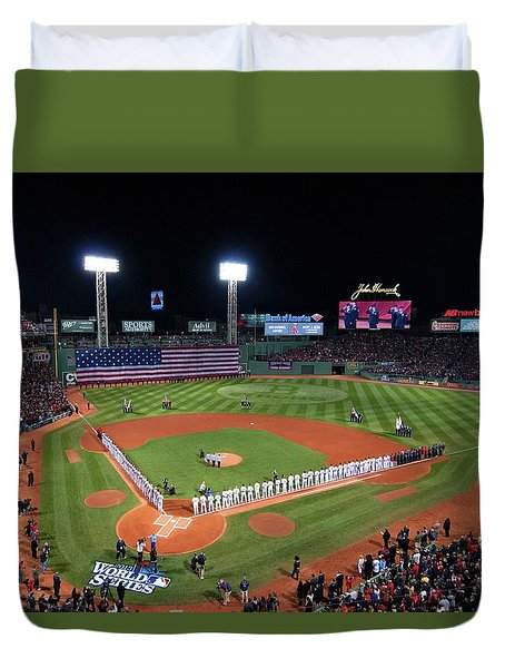 Fenway Park World Series 2013 Duvet Cover