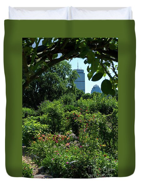Fenway Victory Gardens In Boston Massachusetts  -30951-30952 Duvet Cover