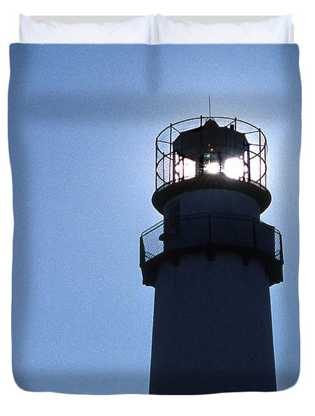 Fenwick Island Lighthouse Duvet Cover by Skip Willits