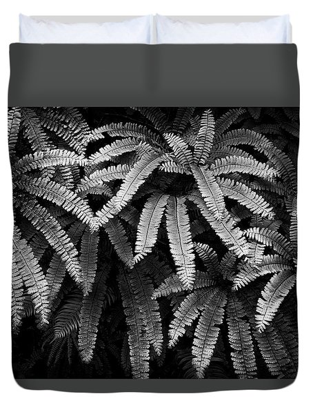 Fern And Shadow Duvet Cover
