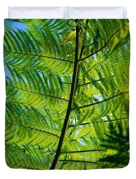 Fern Detail Duvet Cover by Himani - Printscapes