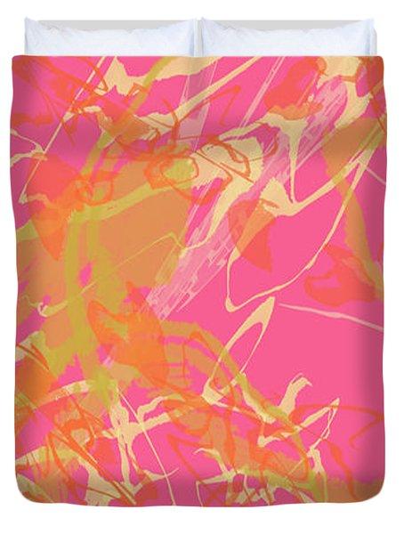 Fern Palette Painting #1 Duvet Cover