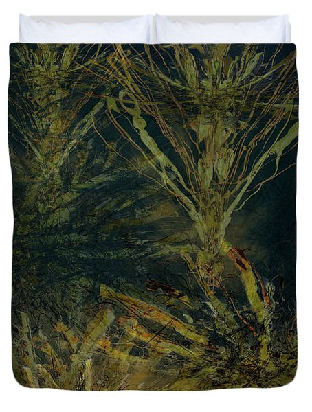 Fern Series Inky Aether Duvet Cover
