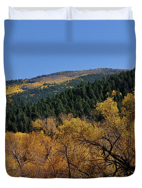 Duvet Cover featuring the photograph Fernando Peak by Ron Cline