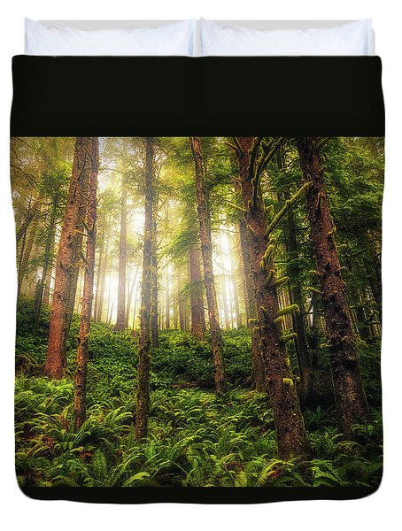 Duvet Cover featuring the photograph Ferngully by Rick Furmanek