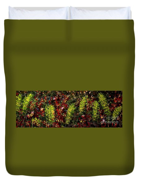 Ferns And Berries Duvet Cover