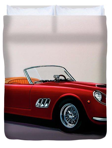 Ferrari 250 Gt California Spyder 1957 Painting Duvet Cover
