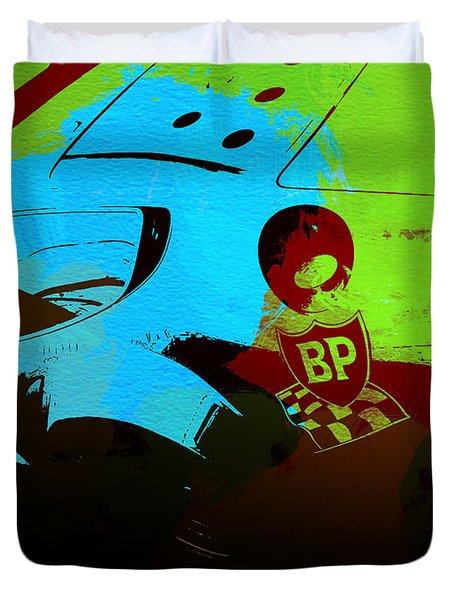 Ferrari 250 Gtb 2 Duvet Cover by Naxart Studio