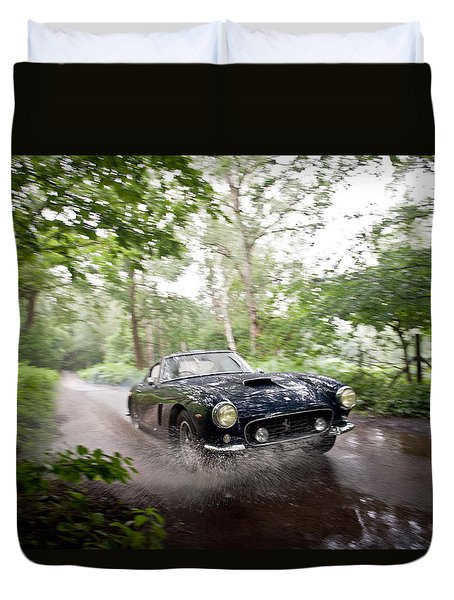 Ferrari 250 Swb Splash Duvet Cover