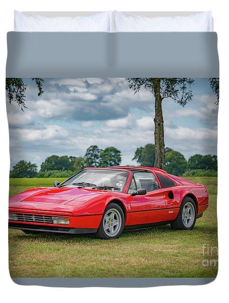 Duvet Cover featuring the photograph Ferrari 328 Gts by Adrian Evans
