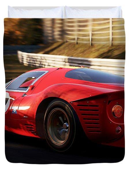 Ferrari 330 P4, Nordschleife - 17 Duvet Cover