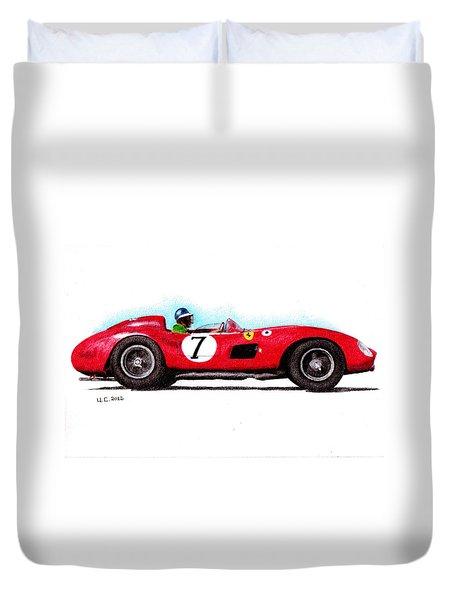 Ferrari 335s Mike Hawthorn 1957 Duvet Cover by Ugo Capeto
