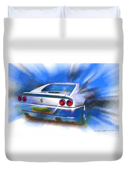 Ferrari 355 Berlinetta Duvet Cover