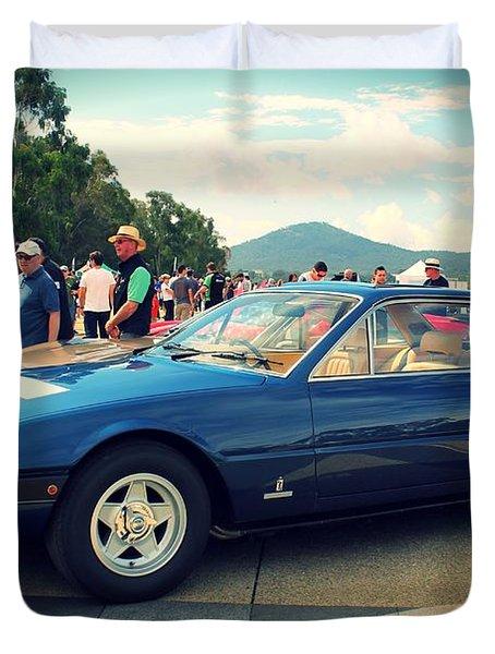 Ferrari 365 Gt4 Duvet Cover