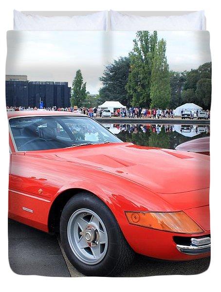 Ferrari 365 Gtb4 Daytona Duvet Cover