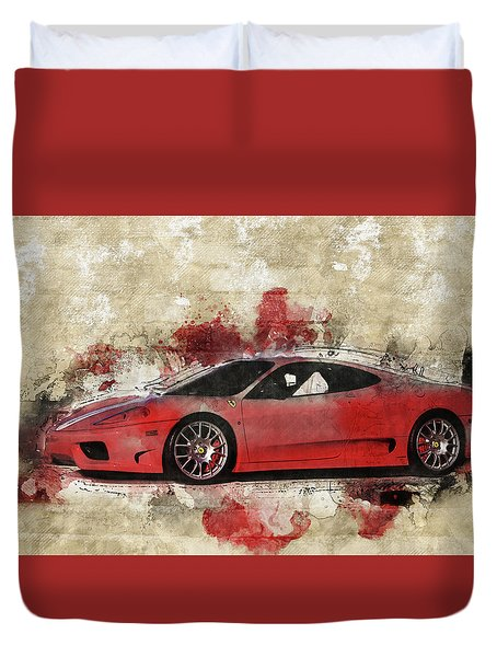 Duvet Cover featuring the photograph Ferrari 430  by Joel Witmeyer