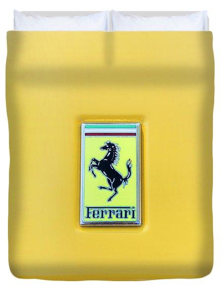 Ferrari Badge Duvet Cover by Theresa Tahara