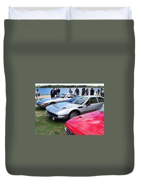 Ferrari Daytona And Lamborghini Jarama Duvet Cover