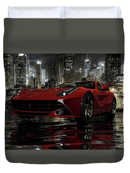 Duvet Cover featuring the photograph Ferrari F12berlinetta by Louis Ferreira