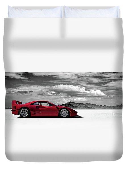 Ferrari F40 Duvet Cover
