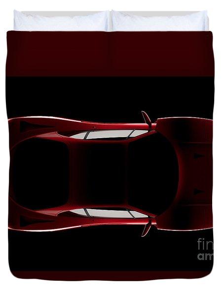 Ferrari F40 - Top View Duvet Cover
