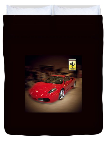 Ferrari F430 - The Red Beast Duvet Cover by Serge Averbukh
