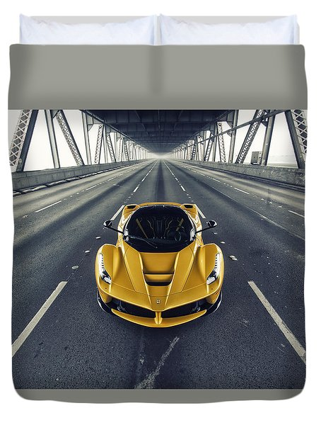 Duvet Cover featuring the photograph Ferrari Laferrari by ItzKirb Photography