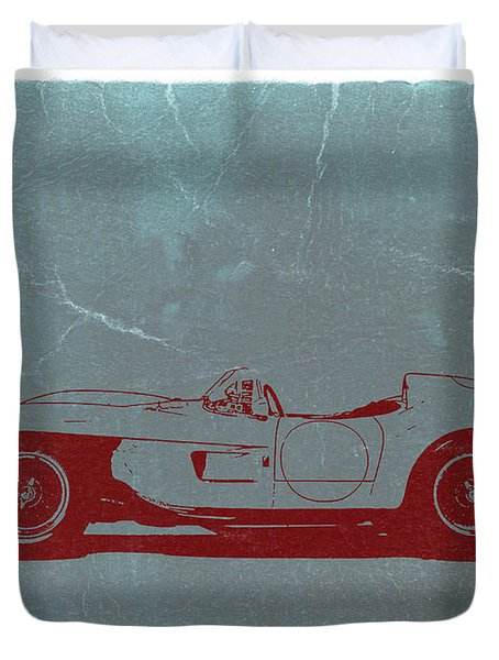 Ferrari Testa Rosa Duvet Cover by Naxart Studio