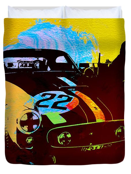 Ferrari Watercolor Duvet Cover