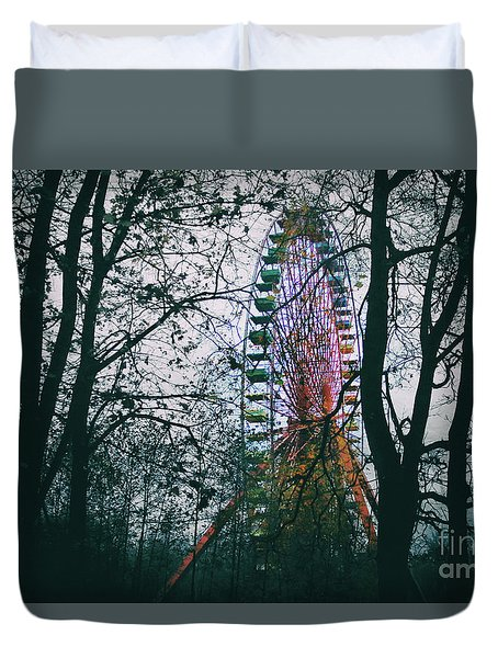 Ferris Wheel Duvet Cover by Ana Mireles
