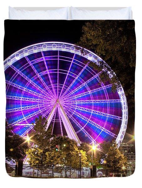 Ferris Wheel At Centennial Park 1 Duvet Cover