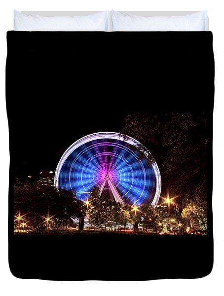 Ferris Wheel At Centennial Park 2 Duvet Cover