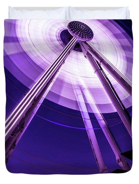 Ferris Wheel At Centennial Park 3 Duvet Cover